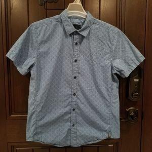 Prana Ulu Short Sleeve Button Up Shirt Steel Blue